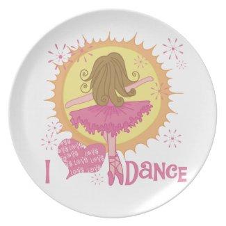 I Love Dance Plate