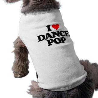 I LOVE DANCE POP DOG TEE SHIRT