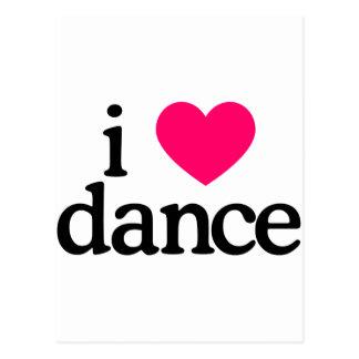 I Love Dance Postcard