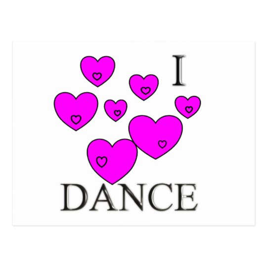 I love dance postcard
