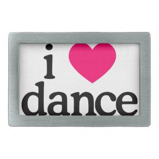 I Love Dance Rectangular Belt Buckle