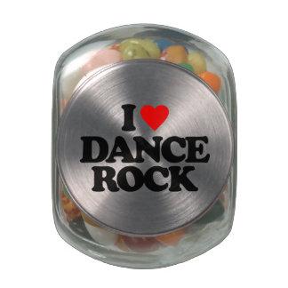 I LOVE DANCE ROCK GLASS JARS