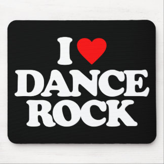 I LOVE DANCE ROCK MOUSE PAD