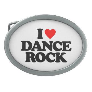 I LOVE DANCE ROCK OVAL BELT BUCKLE