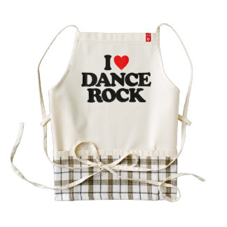 I LOVE DANCE ROCK ZAZZLE HEART APRON