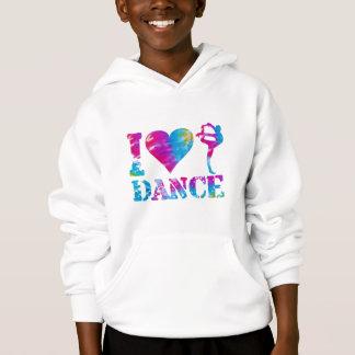 I Love Dance Tie Dye Hoodie