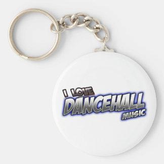 I Love DANCEHALL music Basic Round Button Keychain