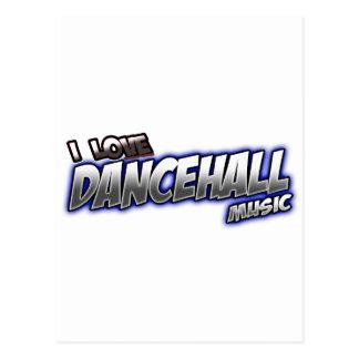 I Love DANCEHALL music Postcard