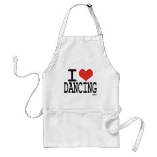 I love dancing adult apron