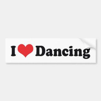 I Love Dancing Bumper Sticker
