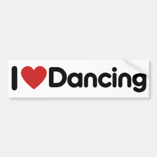 I Love Dancing Bumper Sticker
