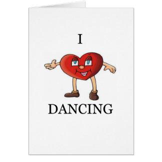 i love dancing card