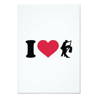 I love dancing couple 3.5x5 paper invitation card
