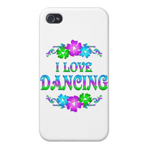 I LOVE DANCING iPhone 4/4S COVER