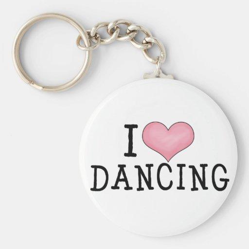 I Love Dancing Key Chain