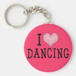 I Love Dancing Key Chains