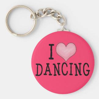 I Love Dancing Keychain