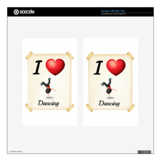 I love dancing kindle fire decals