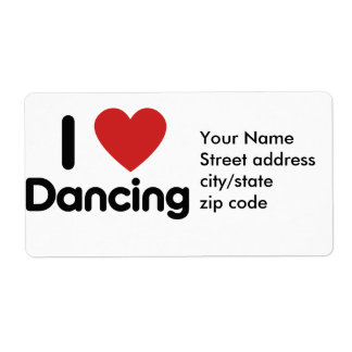 I Love Dancing Label