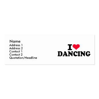 I love dancing mini business card