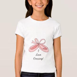 I Love Dancing!-Pink Ballerina Slippers T-Shirt