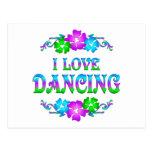 I LOVE DANCING POST CARDS