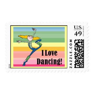 I love dancing postage stamp