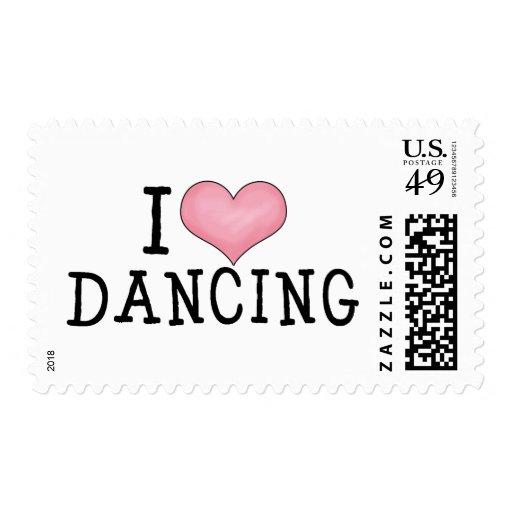 I Love Dancing Postage Stamps