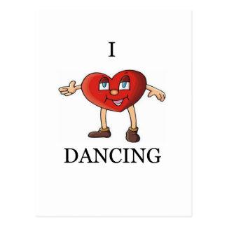 i love dancing postcard