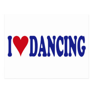 I Love Dancing Postcard