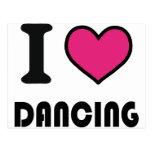 I love dancing postcards