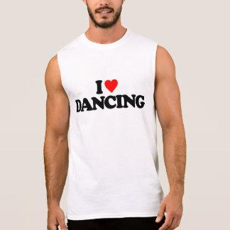 I LOVE DANCING SLEEVELESS SHIRT