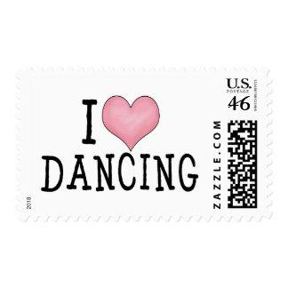 I Love Dancing Stamp