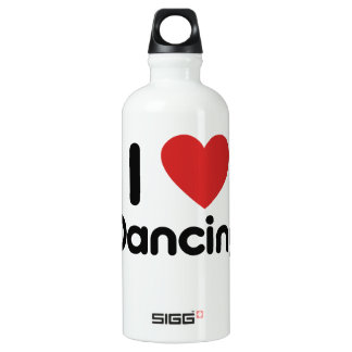 I Love Dancing Water Bottle