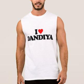 I LOVE DANDIYA SLEEVELESS SHIRT