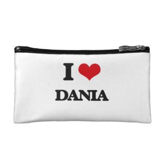 I Love Dania Cosmetic Bags