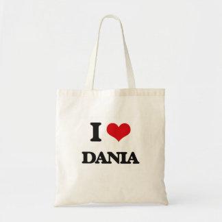I Love Dania Budget Tote Bag