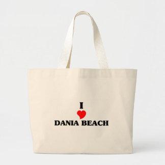 I love Dania Beach Jumbo Tote Bag