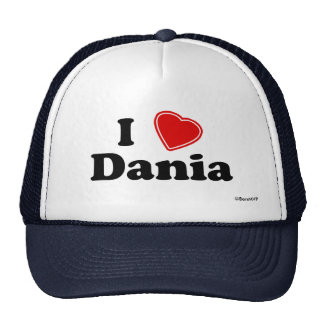 I Love Dania Trucker Hat