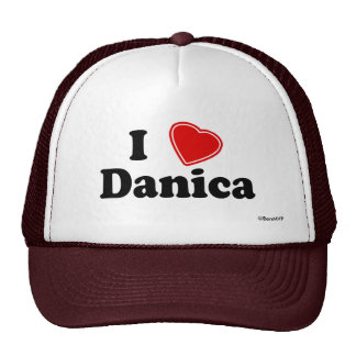 I Love Danica Trucker Hat
