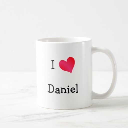 I Love Daniel Classic White Coffee Mug