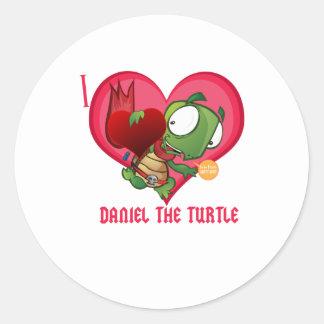 I love Daniel the Turtle Classic Round Sticker