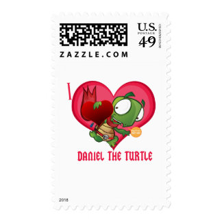 I love Daniel the Turtle Postage Stamps