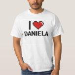 I Love Daniela Digital Retro Design Tee Shirts