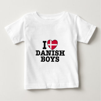 I Love Danish Boys Baby T-Shirt