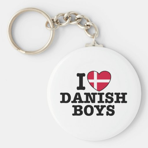 I Love Danish Boys Keychain