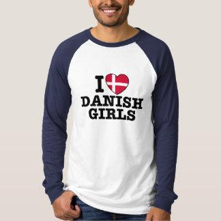 I Love Danish Girls Shirt