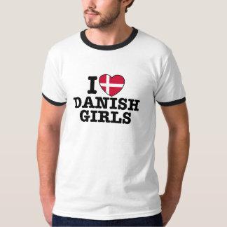 I Love Danish Girls Tee Shirt