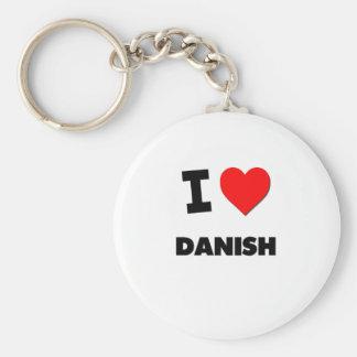 I Love Danish Key Chains