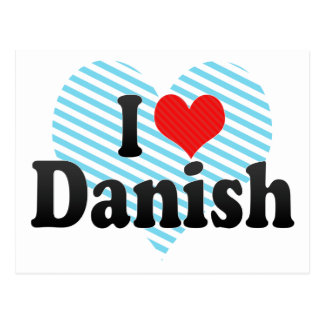 I Love Danish Postcard
